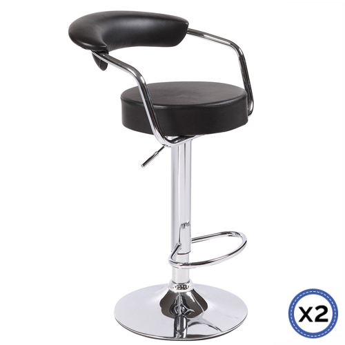 Pleasant Faux Leather Chrome Base Gas Lift Bar Stool Gina Pdpeps Interior Chair Design Pdpepsorg