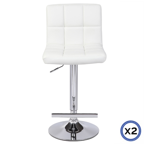 Faux Leather Chrome Base Gas Lift Bar Stool Max