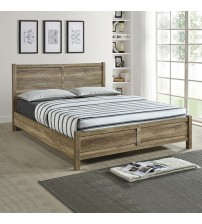 Cielo Natural Wood like MDF Bed with Strong Legs