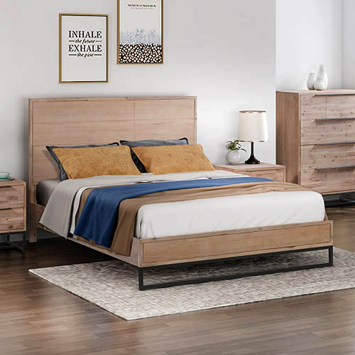 Hannah Tea Colour MDF Bed Frame