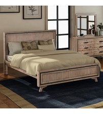 Seashore Silver Brush Acacia Queen Bed Frame