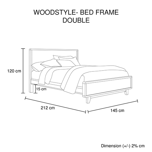 Woodstyle Light Brown Multiple Size Bed Frame