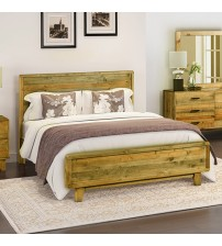 Woodstyle Light Brown Queen Bed Frame