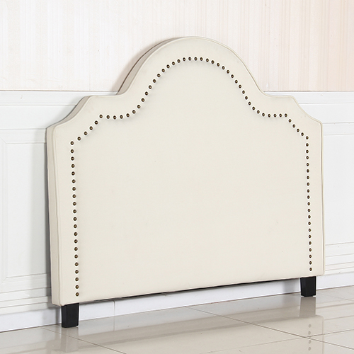 Anne Queen White Headboard with Nail Button Trim