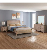 Java Bedroom Suite 4 pcs in Multiple Sizes in Oak Colour