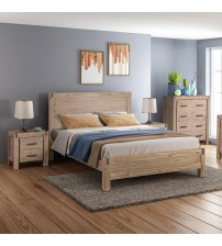 Java Bedroom Suite 4 pcs in Multiple Size in Oak Colour