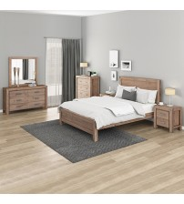 Nowra Bedroom Suite 5 pcs in Multiple Size & Colour