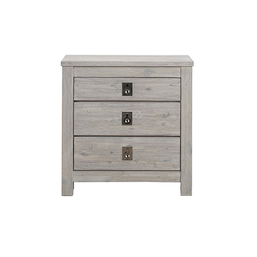 Noe Three Drawers Bedside Table