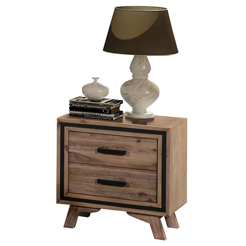 Seashore Silver Brush Bedside Table