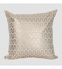 Stylish Foil Printing Fabric Cushion