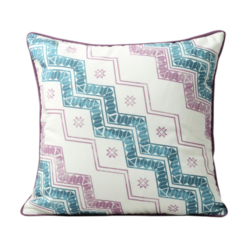 Colourful Wave Printed Cushion