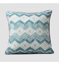 Blue White Coloured Printing Cushion