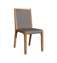 Galaxy White Ash Colour Glossy 2X Dining Chairs