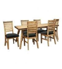 Seashore Dining Table with 6X Chairs