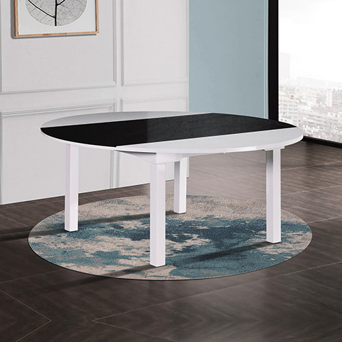 Bailey Glossy Black & White Colour Dining Table