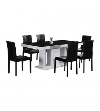 Espresso Dining Table With 6X Chairs