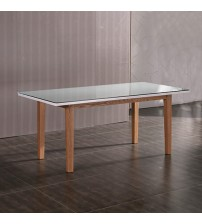 Galaxy White Ash Colour Glossy Dining Table