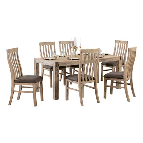 Java Large Dining Table With 8X Chair