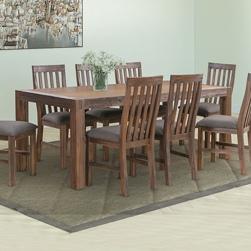 Nowra Large Dining Table With 8X Chair