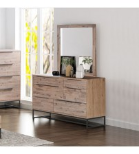 Hannah 6 Drawers MDF Dresser with Mirror