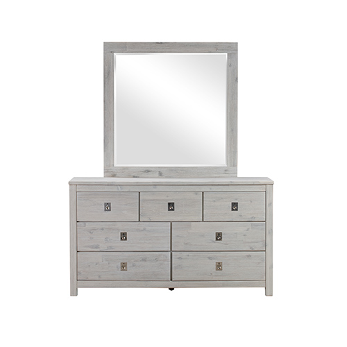 Noe 7 Drawers Dresser with Mirror