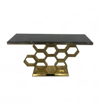 Black Faux Marble Titanium Hall Table Nivea