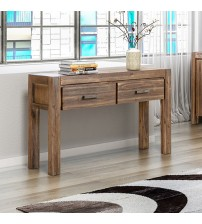 Nowra Solid and Veneered Acacia Hall Table in Multiple Colour
