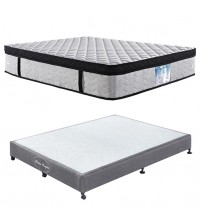 Wooden Slatted Base with Eurotop Pocket Spring Mattress