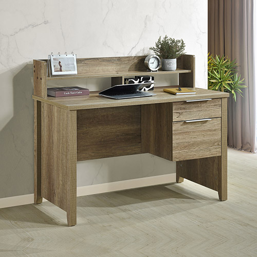 Cielo 2 Drawers Wooden Leg Study Desk