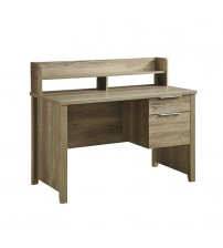 Cielo Study Desk with 2 Drawers Natural Wood like MDF Desk Table