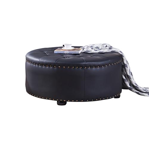 Xavier PU Leather Ottoman