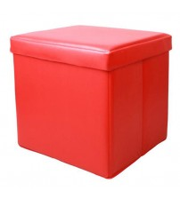 Small Storage Ottoman Red Footstools