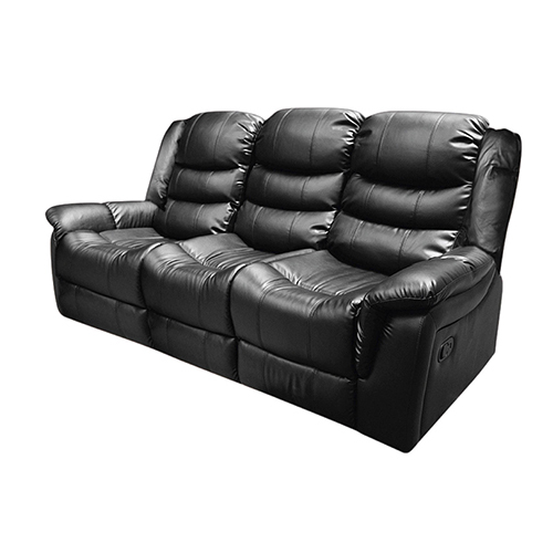 Alan Black 3 Seater Recliner Couch