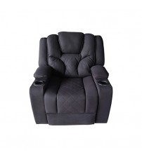 Arnold Rhino Fabric Black Recliner Sofa 1R