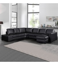 Diva Premium Bonded Leather 6 Seater Sofa (New)