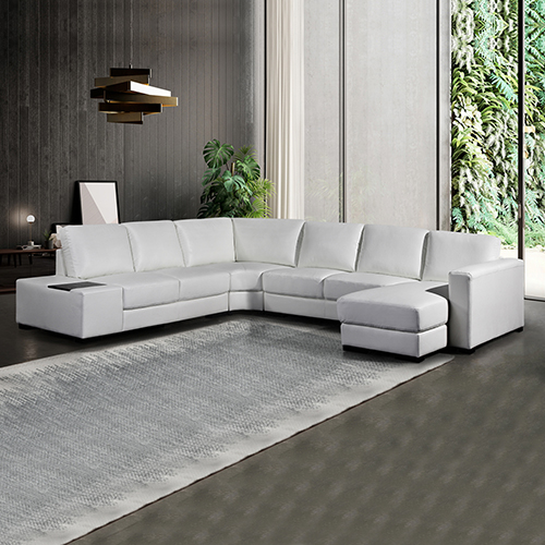 Diva Premium Bonded Leather 6 Seater Sofa (New)