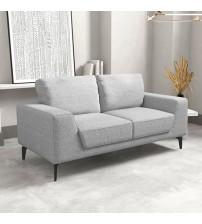 2 Seater Hopper Sofa Light Grey Fabric Lounge