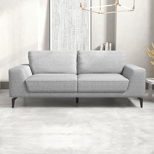 Hopper Light Grey Fabric Lounge 3 Seater Sofa