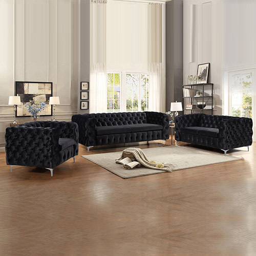Jacques Black Colour 3S+2S+1S Sofa
