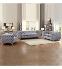 Modern Jacques Black/Grey Colour 3S+2S+1S Sofa