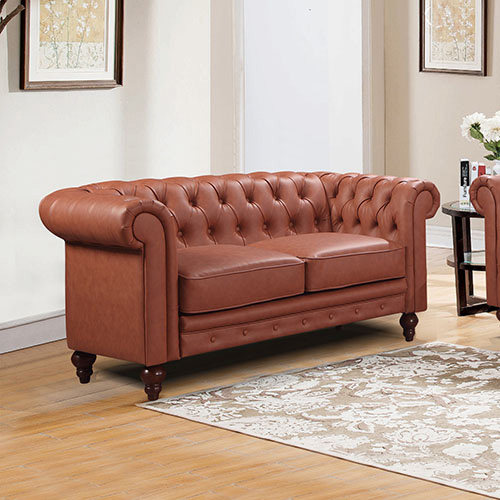 Madeline 2S Brown Colour Sofa