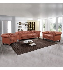 Madeline 3S+2S+1S Brown Colour Sofa