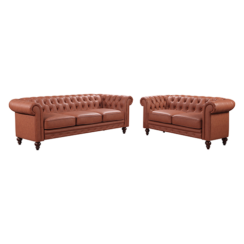 Madeline 3S+2S Brown Colour Sofa