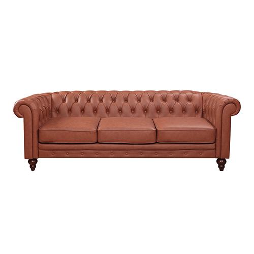 Madeline 3S Brown Colour Sofa