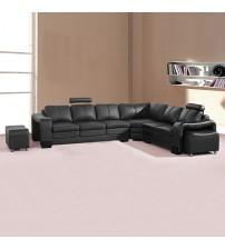 Majestic Black 6 Seater Corner Sofa