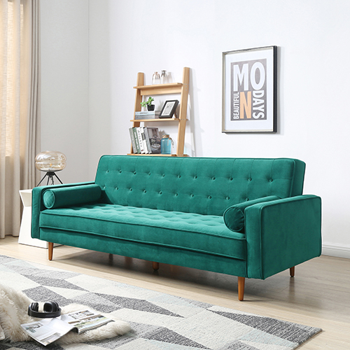 Marcella Velvet Fabric Modern 3 Seater Sofa Bed