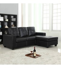 Modern Nowra Black Sofa with Chais