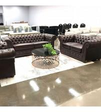 Rochester 3+2+1 Brown Colour Sofa