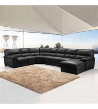 Luxurious 7 Seater Bonded Leather Corner Sofa Hugo