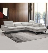 Marina Cream Colour Finest White Leatherette Corner Sofa